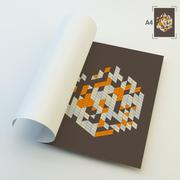 A4 Business Blank. Abstract Vector Illustration - stock illustration