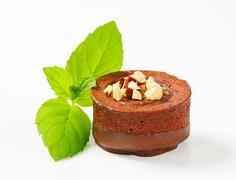 Mini chocolate hazelnut cake Stock Photos