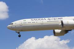 Saudi Arabian Airlines Boeing 777 Stock Photos