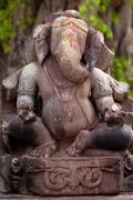 Ganesh Hindu god stone statue India Stock Photos