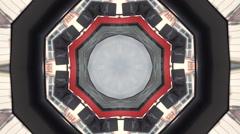 Abstract street kaleidoskop background pattern - stock footage