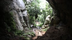 Beautiful Lod cave in Sappong Stock Footage