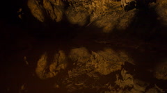 Cave water circles - stock footage