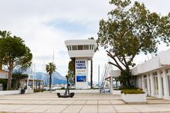 The main entrance in marina bay of Kemer - stock photo