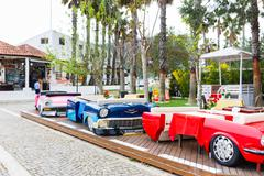 Autocafe in Kemer - stock photo