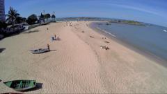 Praia da Costa (Costa Beach) in Espirito Santo, Brazil Stock Footage