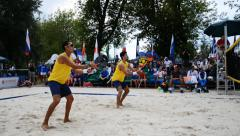 Beach Tennis World Team Championship 2015, Moscow Stock Footage