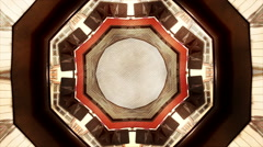 Abstract street texture kaleidoskop background pattern Stock Footage