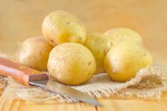 Raw potato Stock Photos