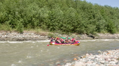 Mountain river rafting - stock footage
