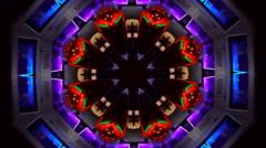 Abstract city lights kaleidoskop background pattern Stock Footage