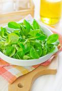 corn salad - stock photo