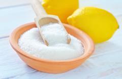 acid and lemons - stock photo