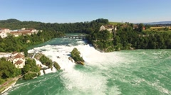 Rhine falls (Rheinfall), Neuhausen, Switzerland Stock Footage