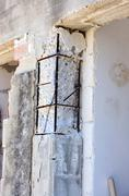 Reinforced concrete pillar to Reinforce - stock photo