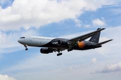 Titan Airways Boeing 767 - stock photo
