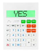 Calculator with YES Stock Photos
