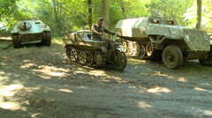 WWII German Tracked Motorcycle Stock Footage