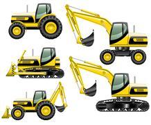 Construction machines - stock illustration