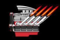 Engine - stock illustration