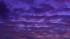 Stratus clouds at sunset Stock Footage