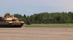 M1A2 Abrams operations Stock Footage