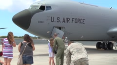 KC-135 Stratotanker 96th ARS Completes Final Flights Stock Footage