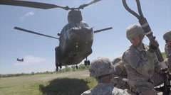 The 45th Field Artillery Brigade conducts annual training - stock footage