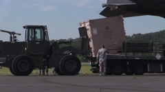 Patriot Warrior 2015: C-130 Hercules Unload - stock footage