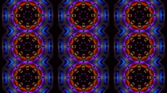 Abstract city lights tiles kaleidoskop hexagon background pattern 4 Stock Footage