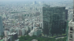 Aerial View Of Tokyo Merto Area Stock Footage