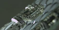 Vintage silver Mezuzah case. Macro shot Stock Footage