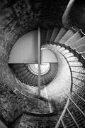 Spiral Staircase Metal Brick Architecture Historic Building Interior Stock Photos