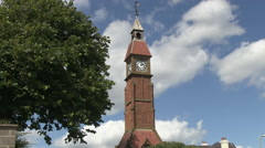 The Clock Tower in Seaton Town in Devon Stock Footage