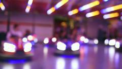 Bumper cars at amusement park Stock Footage