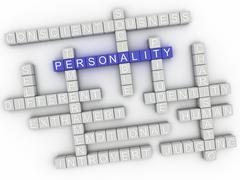 3d image Personality issues concept word cloud background Stock Illustration
