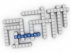 3d image Bullying issues concept word cloud background Stock Illustration