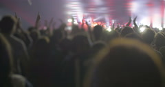 Excited audience applauding on the concert - stock footage