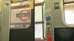 London Underground Tube Stop 4K Stock Footage
