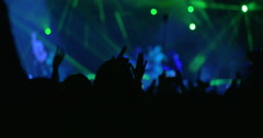 People Listening to the Musical Band on the Concert Stock Footage