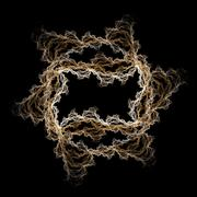 Abstract fractal lightning frame on black Stock Illustration
