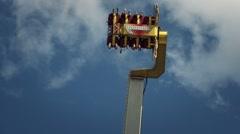 Theme park pendulum ride, close up - 60fps - stock footage