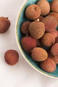 Fresh lychee - stock photo