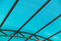 Arc polycarbonate canopy underside Stock Photos