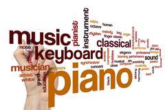 Piano word cloud concept Stock Photos