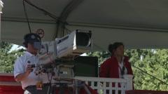 LPGA 2012, Vancouver Golf Club, TV cameraman Stock Footage