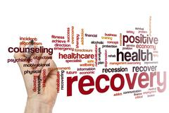 Recovery word cloud concept - stock photo