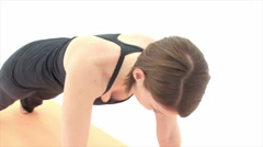 Yoga Asana: Side Plank and more Stock Footage