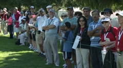 LPGA 2012, Vancouver Golf Club, people watching Stock Footage