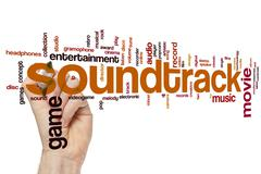 Soundtrack word cloud Stock Photos